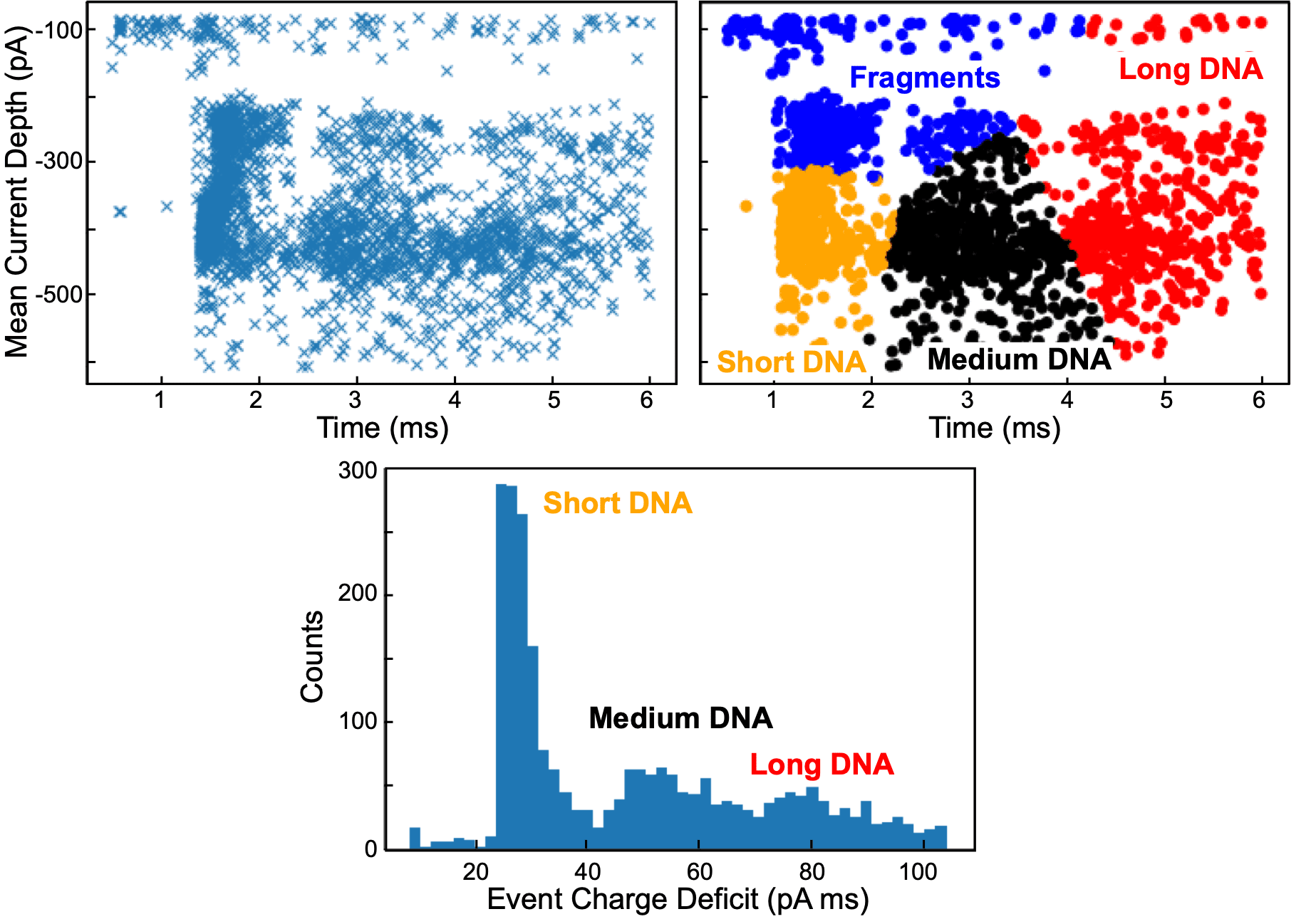 Grouping events by translocation area, depth and k-means clustering